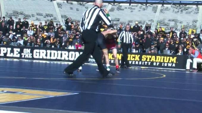 125lbs Match Thomas Gilman (Iowa) vs. Eddie Klimara (OSU)