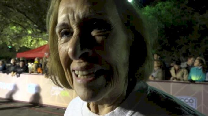 81 Year Old Elvira Montez completes beer mile
