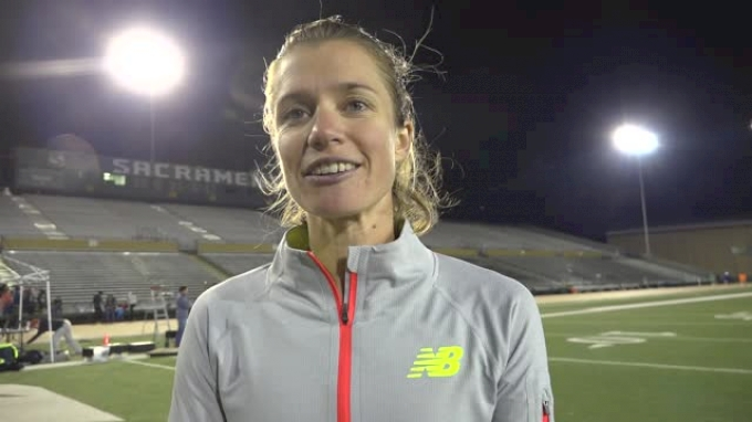 Kim Conley after crushing Olympic standard at Pacific Pursuit