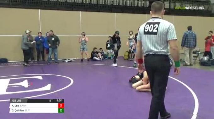 135 lbs Rr rnd 5 - Kyle Lee, Barn Beasts Ms vs Dave Quinlan, Elite NJ Black MS