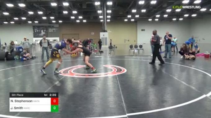 130 lbs 5th Place - Nate Stephenson, Waynesburg vs Justin Smith, Marcus Whitman