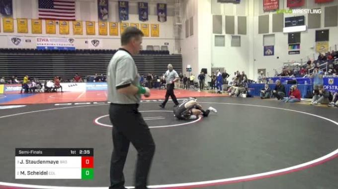 157 lbs Semifinal - Justin Staudenmayer, Brown vs Markus Scheidel, Columbia