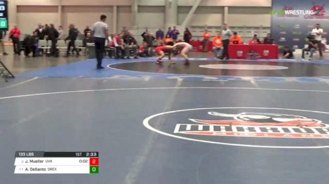 133 lbs 3rd place - Jack Mueller, Virginia vs Austin DeSanto, Drexel