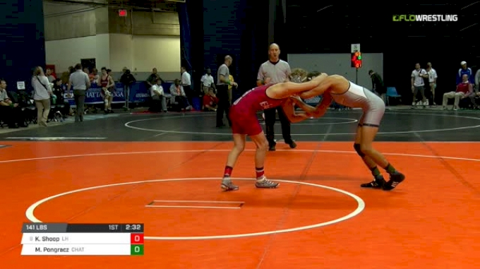 141 lbs Round of 16 - Kyle Shoop, Lock Haven vs Mike Pongracz, Chattanooga