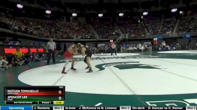 125 lbs Semifinal - Nathan Tomasello, Ohio State vs Spencer Lee, Iowa