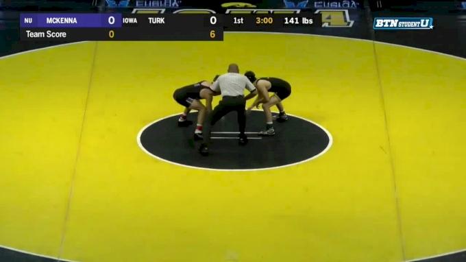 141 lbs m, Alec McKenna, Northwestern vs Vince Turk Iowa