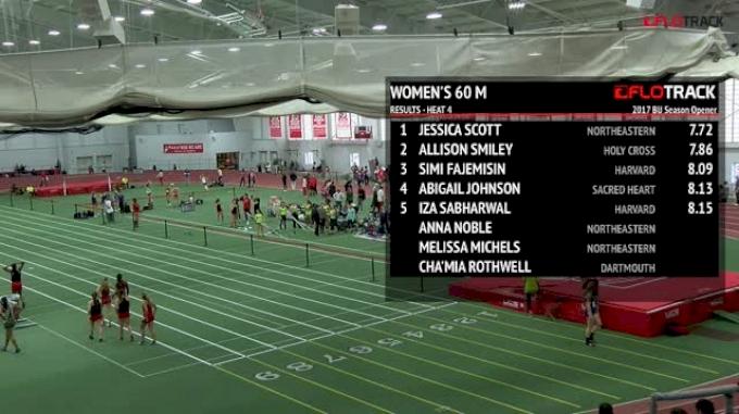 Women's 60m, Heat 4