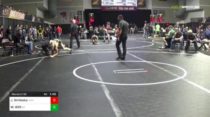 113 lbs Round Of 32 - Jake Stritesky, Higher Level Wrestling vs William Witt, Cane Ridge High School