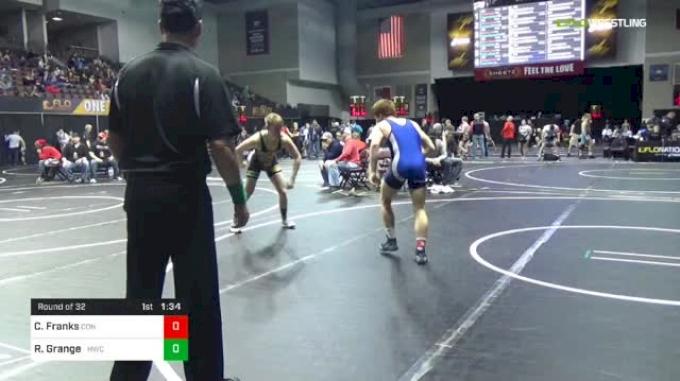 145 lbs Round Of 32 - Colin Franks, Connellsville vs Ryan Granger, Holt Wrestling Club