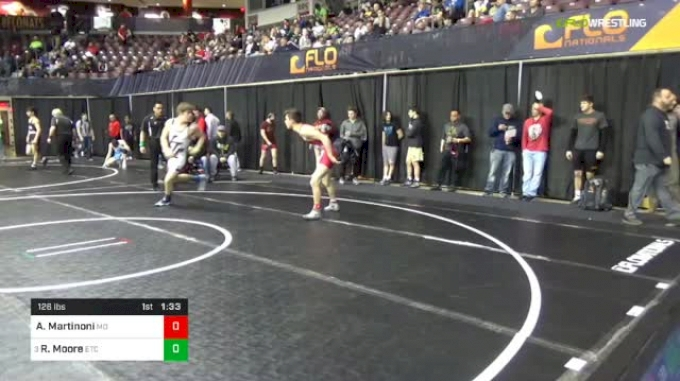 126 lbs Round Of 32 - Angelo Martinoni, Mad Dawg Wrestling Club vs Ryan Moore, ETC