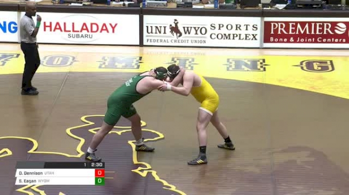 285 lbs Dustin Dennison, Utah Valley vs Sam Eagan, Wyoming