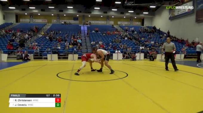 174 lbs Final - Ryan Christensen, University Of Wisconsin vs Jacob Covaciu, University Of Wisconsin