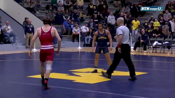 157 lbs, Andrew Crone, Wisconsin vs #5 Alec Pantaleo, Michigan