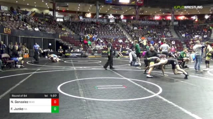 120 lbs Round Of 64 - Nikolaos Gonzalez, Beast Mode vs Frederick Junko, North Allegheny