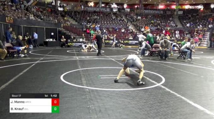 106 lbs Round Of 64 - Joseph Manno, Apex vs Blayke Knauf, Greenville High School