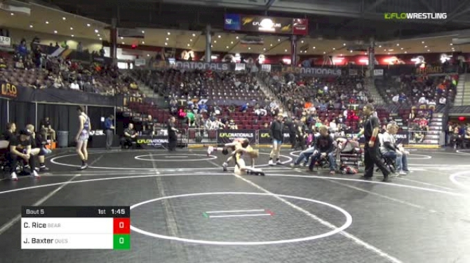 106 lbs Round Of 64 - Cooper Rice, Bearcat Wrestling Club vs Jimmy Baxter, Quest