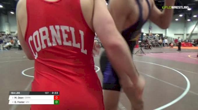 184 lbs - Max Dean, Cornell vs Drew Foster, UNI