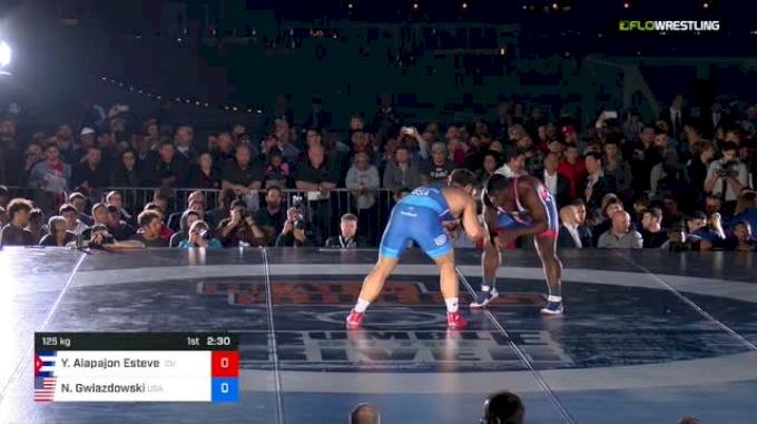 125 kg Rr Rnd 1 - Yudenny Alapajon Estevez, Cuba vs Nick Gwiazdowski, USA