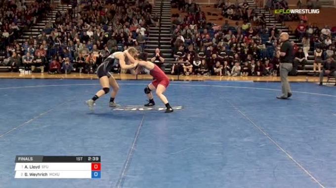 116 lbs Final - Abby Lloyd, Simon Fraser University vs Gabrielle Weyhrich, McKendree University