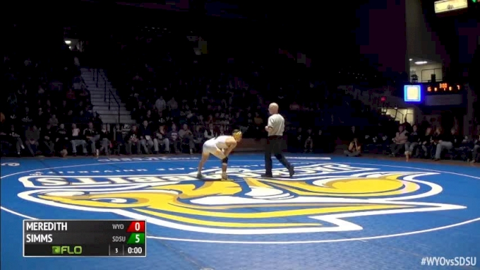 141 m, Bryce Meredith, WYO vs Seth Gross, SDSU