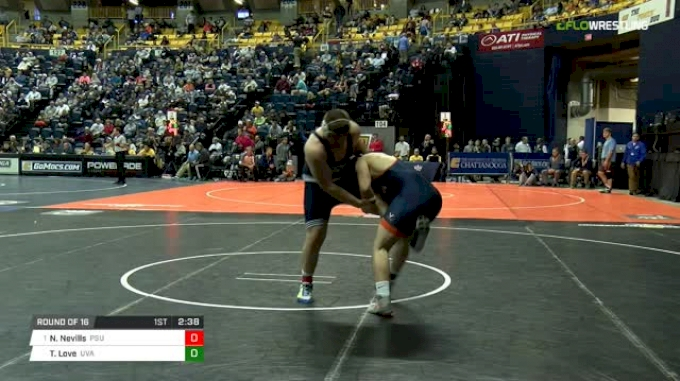 285 lbs Round of 16 - Nick Nevills, Penn State vs Tyler Love, Virginia