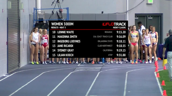 Women's 3k, Heat 4 - Allie Ostrander Runs 8:54 NCAA Lead!
