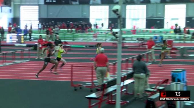 Women's Pentathlon 60m Hurdles, Heat 2
