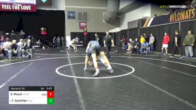 126 lbs Round Of 32 - Sander Mayer, Warren Woods vs Fabian Santillan, Mile High Wrestling Club Colorado
