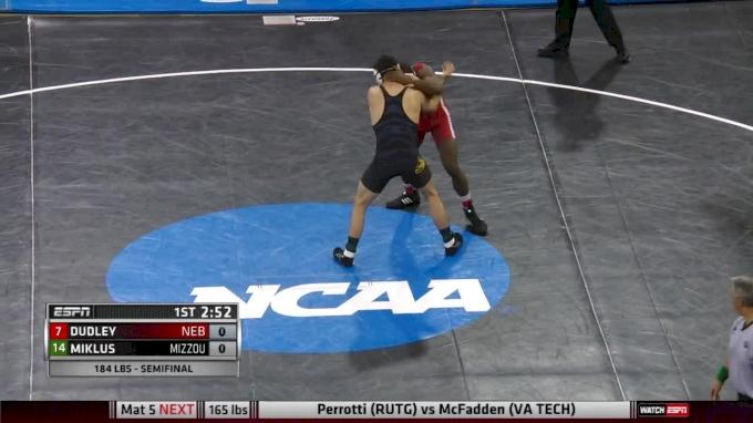 184 lbs TJ Dudley, Nebraska vs Willie Miklus, Missouri