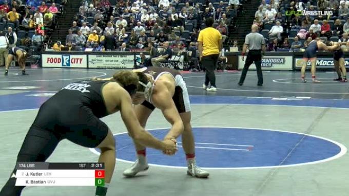 174 lbs Round of 16 - Jordan Kutler, Lehigh vs Kimball Bastian, Utah Valley