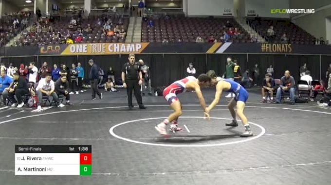126 lbs Semifinal - Justin Rivera, FORT MYERS WC vs Angelo Martinoni, Mad Dawg Wrestling Club