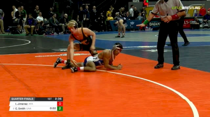 133 lbs Quarterfinal - Isaac Jimenez, Air Force vs Colby Smith, Unattached