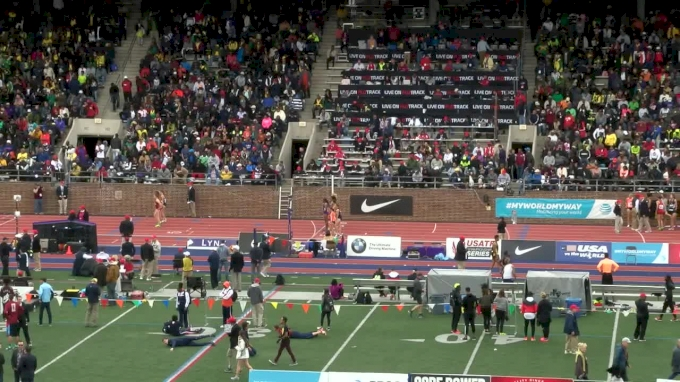 Women's 4x800m Relay,  - Event 486, Championship of America, Kaela Edwards Drops 2-flat!
