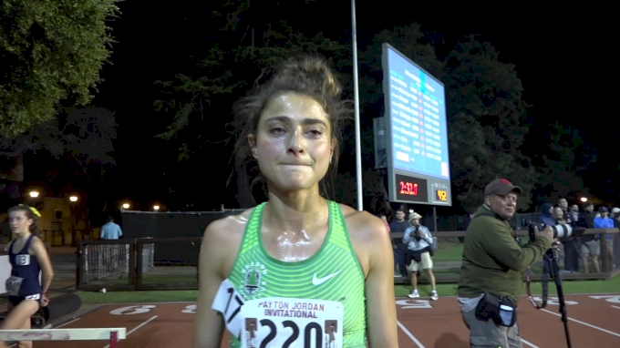 Alexi Pappas emotional after hitting Olympic 10K standard for Greece