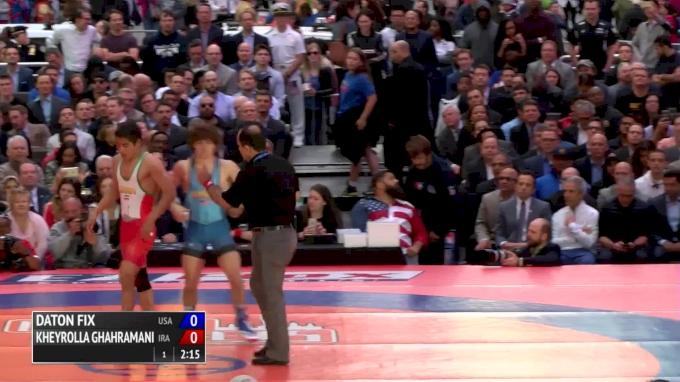 55 kg Daton Fix, USA vs Kheyrolla Ghahramani, Iran