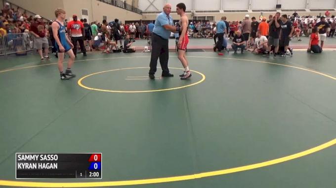 58 kg Semifinal - Sammy Sasso, PA vs Kyran Hagan, MO