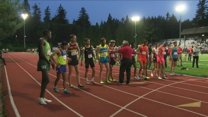 Men's 5k, Heat 1 - Galen Rupp wins in second track race since marathon