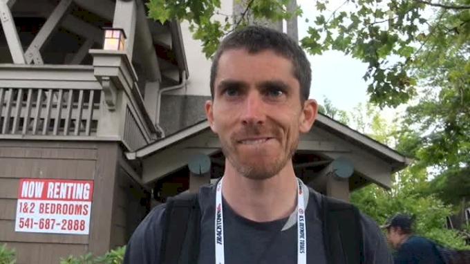 Garrett Heath after 5k at Olympic trials