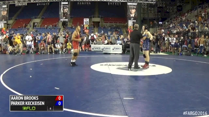 160 lbs Quarterfinal - Aaron Brooks, MD vs Parker Keckeisen, WI