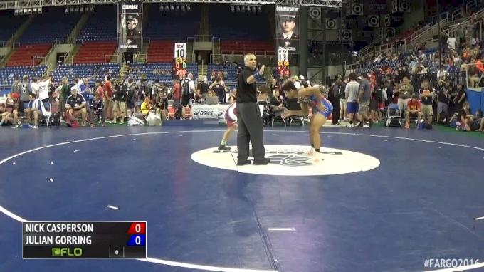 182 lbs Quarterfinal - Nick Casperson, SD vs Julian Gorring, PA