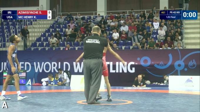42kg R16, Kurt McHenry, USA vs Seyed Azimisiyache, IRI