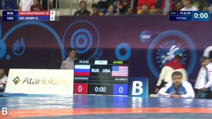 42 kg Semifinal - Kurt McHenry, USA vs M Abdurakhmanov, RUS