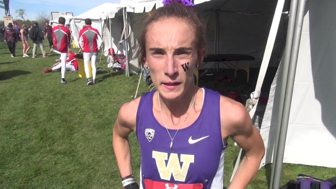 UW's Charlotte Prouse after a top ten performance at Wisco