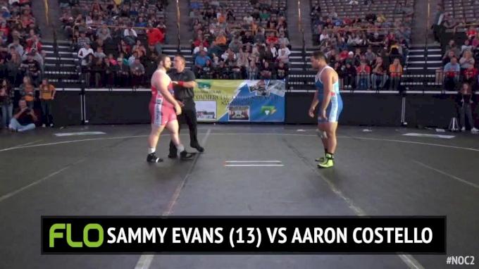 285 lbs Aaron Costello, IA vs Sammy Evans, TN