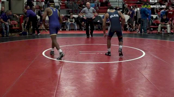 138 lbs, Semifinals, Malcolm Robinson, Blair Academy vs Marcus Robinson, Ark City.mp4