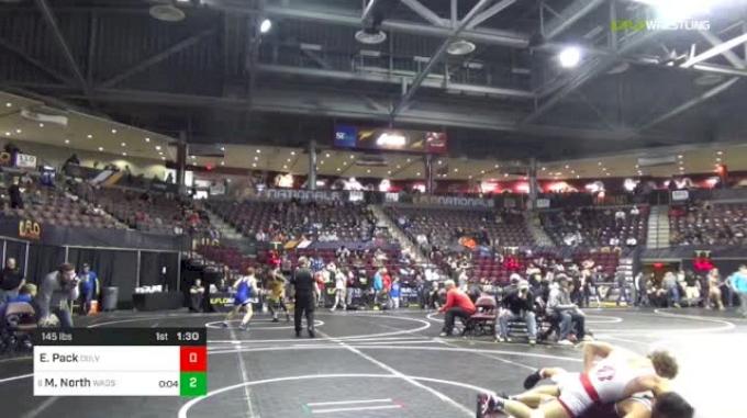 145 lbs Round Of 16 - Elijah Pack, Culver Academy vs Michael North, Wadsworth Wrestling
