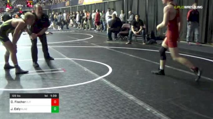 126 lbs Round Of 32 - Decklan Fischer, DJ Trained vs Jacob Ealy, Gladiators