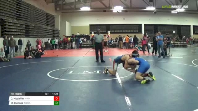 135 lbs Rr rnd 5 - Owen Mcduffie, Maine Trappers MS vs Michael Quiones, Ncway Ms