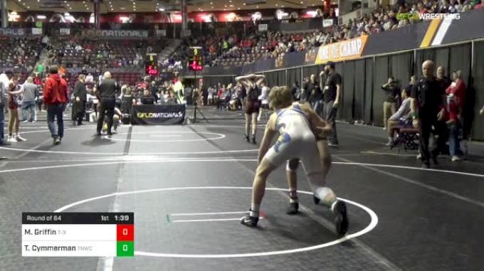 120 lbs Round Of 64 - Myles Griffin, T-3 vs Tyler Cymmerman, Team Nauman Wrestling Club
