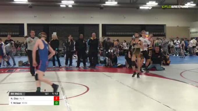96 lbs Rr rnd 5 - Nicholas Diaz, NJ Strength MS vs Tristan Mcleer, Rhino MS